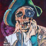 <b>Pirát</b><BR><b>Technika</b>: akryl na plátně<BR><b>Rozměr</b>: 40×30 cm<BR><b>Originál</b>: 2 500 Kč<BR><b>Reprodukce</b>: 1 200 Kč