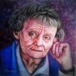 <b>Astrid Lindgrenová</b><BR><b>Technika</b>: olej na plátně<BR><b>Rozměr</b>: 30×30 cm<BR><b>Originál</b>: 1 200 Kč<BR><b>