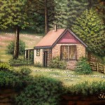 <b>Dům u lesa</b><BR><b>Technika</b>: olej na plátně<BR><b>Rozměr</b>: 30×24 cm<BR><b>