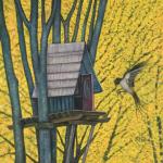 <b>Ptačí budka</b><BR><b>Technika</b>: olej na plátně<BR><b>Rozměr</b>: 60×50 cm<BR><b>Originál</b>: 3.600 Kč <BR><b>Reprodukce</b>: 2 000 Kč