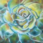 <b>Bílá růže</b><BR><b>Technika</b>: olej na plátně<BR><b>Rozměr</b>: 30×24 cm<BR><b>Originál</b>: 1 200 Kč<BR><b>