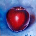 <b>Jablko</b><BR><b>Technika</b>: olej na plátně<BR><b>Rozměr</b>: 20×30 cm<BR><b>Originál</b>: 900 Kč<BR><b>