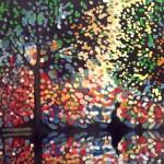 Píseň stromůTechnika: olej na plátněRozměr: 50×40 cm