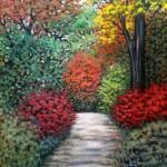 <b>Podzim v lese</b><BR><b>Technika</b>: olej na plátně<BR><b>Rozměr</b>: 30×24 cm<BR><b>Originál</b>: 1 200 Kč<BR><b>